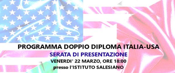 """""""DOPPIO DIPLOMA ITALIA-USA"""": immatricolazioni 2019/20"""