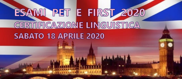 ESAMI LINGUISTICI PET E FIRST – 2020