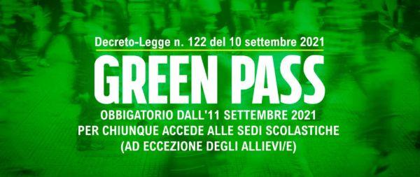 OBBLIGO DI GREEN PASS
